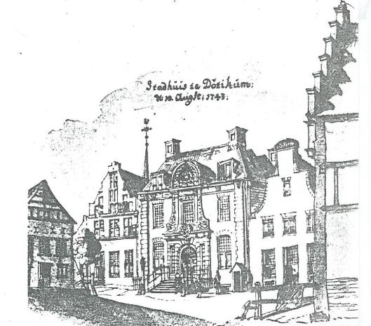 Raadhuis Doetinchem dateerde uit 1727 en is in 1743 getekend door Jan de Beyer