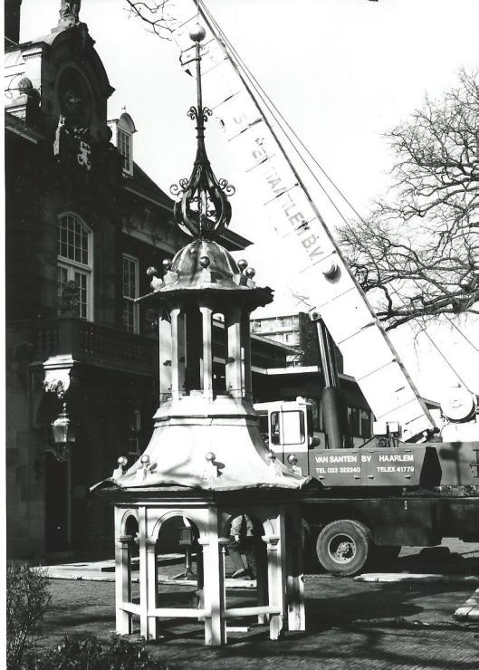 De klokkentoren van Raadhuis Heemstede, 1980
