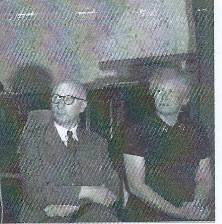 De heer Geert de Boer en mw. Margaretha Hendrika de Boer-Niemöller.