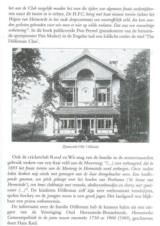 Vervolg: De bewoners van Villa t Clooster. Jaarboek Hageveld. 2008, p.51-63.