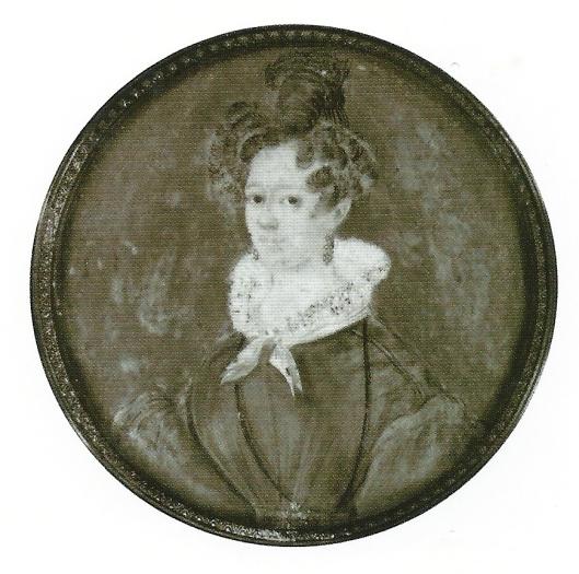 Miniatuur van Johanna Cornelia Theresia Charlé, gouache op ivoor. Anonieme en ongedateerde schildering (RKD, iconografisch bureau)