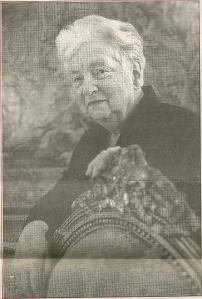 Mw. Lili Gutmann in 2003 gefotografeerd door Phil Nijjhuis (krantefoto Rotterdams Dagblad)