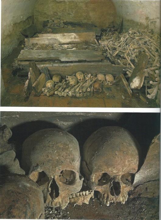 Restanten van skeletten in de Heemsteedse kapel, Janskerk Haarlem, 2007 (uit: boek Wim Cerutti)