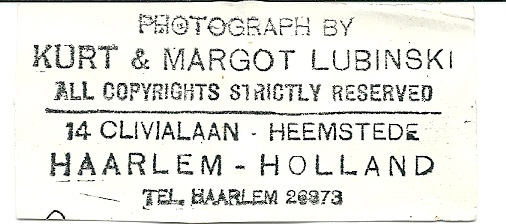 Advertentie van Kurt & Margot Lubinski, Clivialaan 14 Heemstede