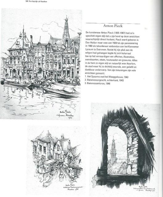 Pagina uit: Tom van Leersum, Een kaartje uit Haarlem; Haarlem in prentbriefkaarten 1940 tot 1960. Haarlem, 2007.