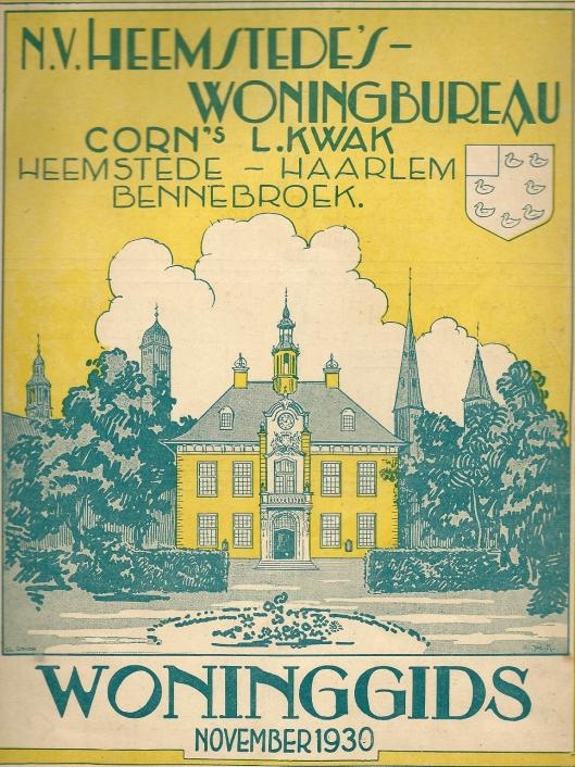 Voorbeeld van woninggids van Heemstede's Woningbureau C. Kwak