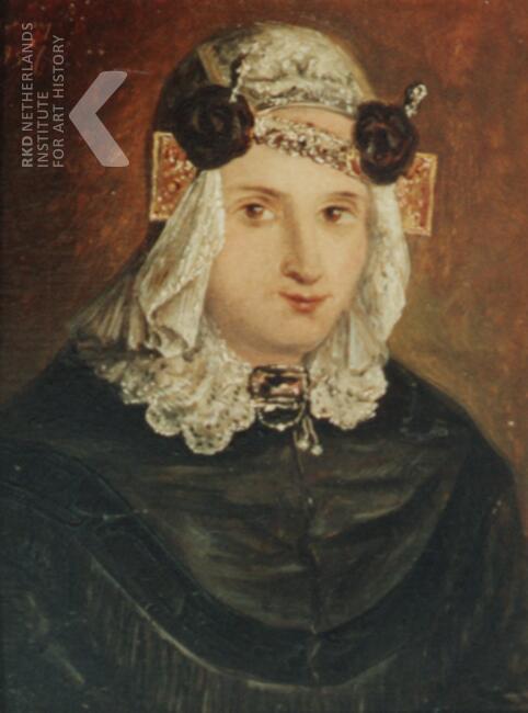 Portret van Anna Maria Schaaps, door Willem Vester, 1857 (RKD Den Haag)
