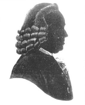 Cornelis Schellinger (1711-1778) , silhouet in bezit van de Van de Poll Stichting