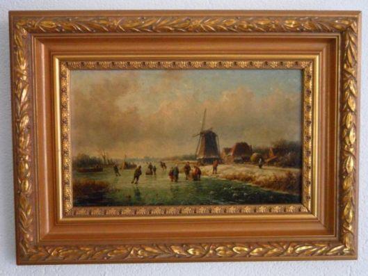 Willem Vester, 1850, wintergezicht aan het Spaarne