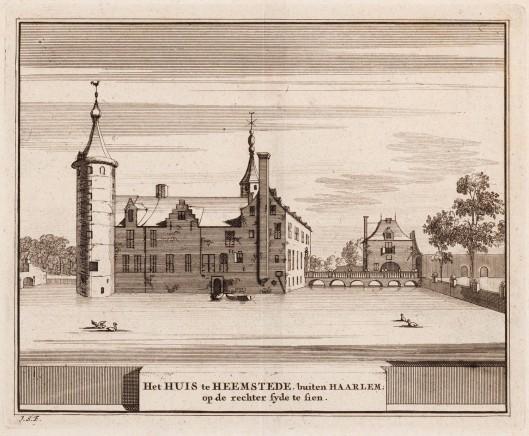 Het Huis te Heemstede door Hendrik Spilman,  (1721-1784), circa 1762 getekend en gegraveerd