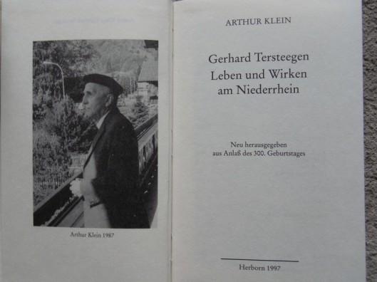 Biografie gewijd aan de Rijnlandse mysticus Tersteegen