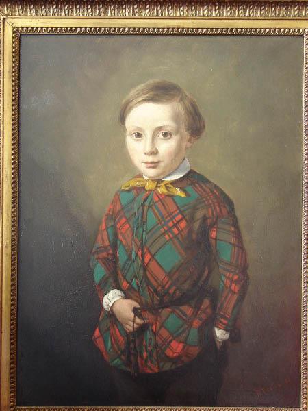 Portret van een jongen door Willem Vester