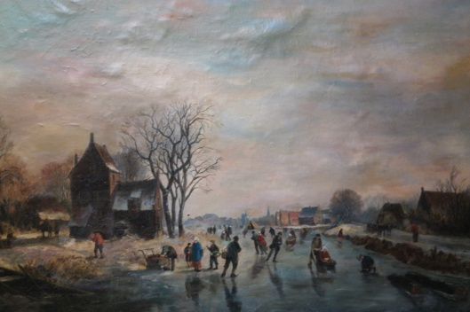 Winterlandschap bij Haarlem door Willem Vester