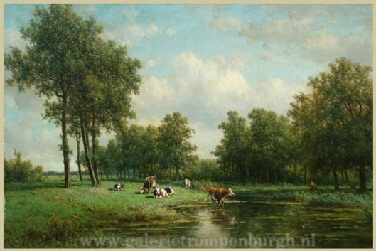 Boomrijk landschap rond 't Klooster in Heemstede door Willem Vester (Galerie Moolenburgh)