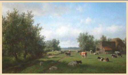 Willem Vester: landsxchap rond Heemstede (verkocht door Galerie Trompenburgh in 's-Gravelad, gemeente Wijdemeren)