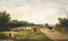 Gesine Andriessen-Vester: Leidsevaart bij Vogelenzang (geveild bij Christie's)