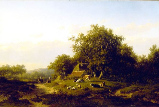Willem Vester: Zomerlandschap, 1871 (Guarico Galllery, Washington)