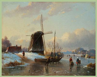 Willem Vester, winterlandschap aan het Spaarne (Galerie Trompenburgh)