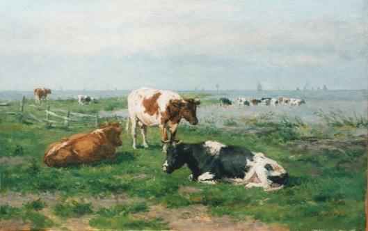 Talentvol leerling van Willem Vester was de in Heemstede geboren Herman Wolbers (1856-1926). Ook hij legde zich tie op het schilderen van koeien. Bovenstaand doek 'Koeien in de wei' is momenteel in eigendom van kunsthandel Simonis & Buunk.