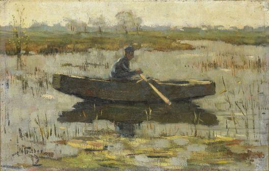 Herman Wolbers: Man in een roeiboot. 1947 Rijksmuseum Amsterdam