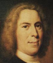 Portret van Nikolaus Zinsendorf door Balthasar Denner. Zinzendorf (1700-1760), tijdgenoot van Tersteegen, was oprichter van de christelijke, piëtistische, kolonie Herrnhut, waaruit de Evangelische Broedergemeente (in ins land met een centrum in Zeist) voortkwam.