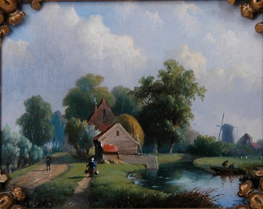 Paneel met een zomerlandschap door Willem Vester (in 2014 geveild bij Notarishuis Arnhem)