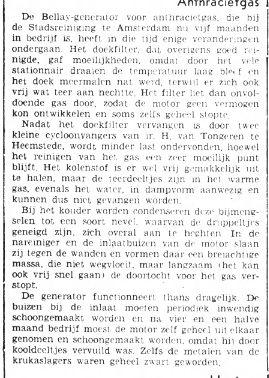 Plaatsing van cycloonvangers bij de Stadsreiniging in Amsterdam. Uit: Het Volk, 30--11-9141