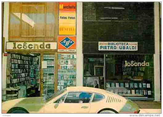 Boekhandel en winkelbibliotheek Pietro Ubaldi in Brasilia, Brazilië