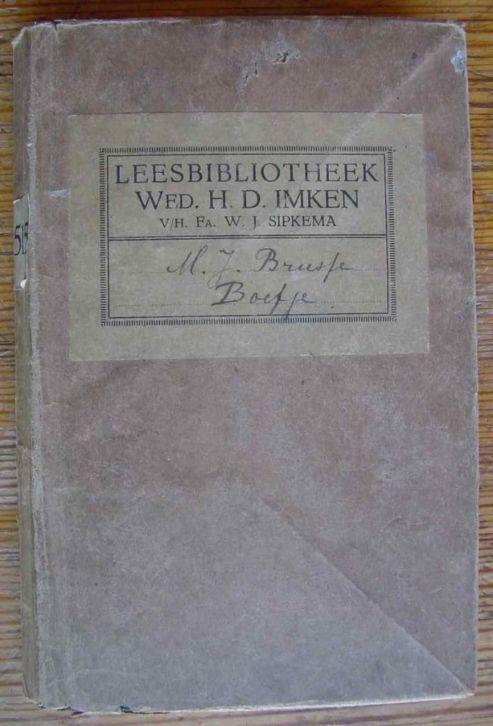 Boek afkomstig van Boek- en Kunsthandel, Leesbibliotheek H.D.Imken, voorheen F.W.J.Sipkema in Edam