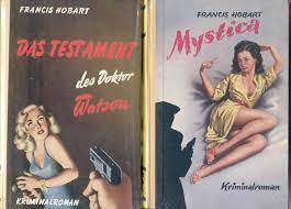 Cor(nelis) Doctor (1925-2006) schrijvend onder talrijke schuilnamen, zoals Francis Hobart publiceerde detectives, streek- en damesromans. Bijgenaamd 'de kroonprins van de buurtbibliotheken' (Spanningblog)