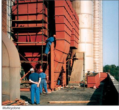 Van Tongeren High Efficiency Multicyclone, vervaardigd door Kendech in Germiston, Gauteng, (Zuid-Afrika0 ten behoeve van de voedingsindustrie.