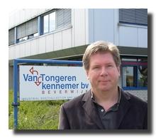 Directeur R.Witkamp voor het bedrijf 'Van Tongeren Kennemer Group' in Beverwijk