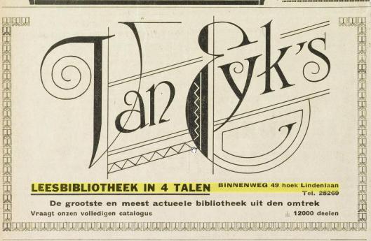Van Eyk's Leesbibliotheek, met 12.000 boeken één van de grootste van Kennemerland