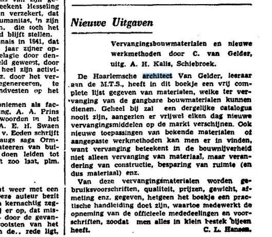 Uit: Het Vaderland van 9 augustus 1941