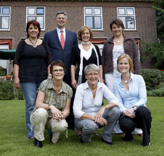 Notaris Huisman en kantoormedewerksters