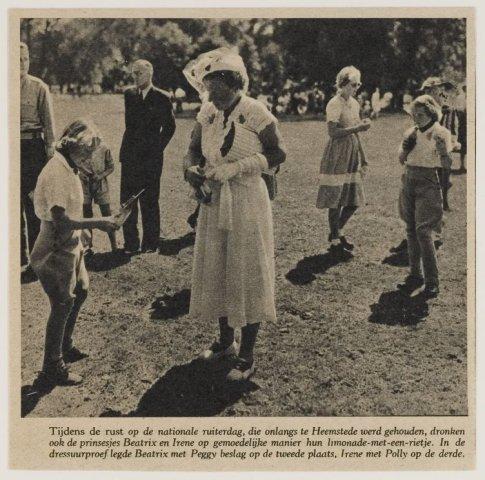 Bericht over Jeugdruiterdag in Groenendaal Heemstede in 1949