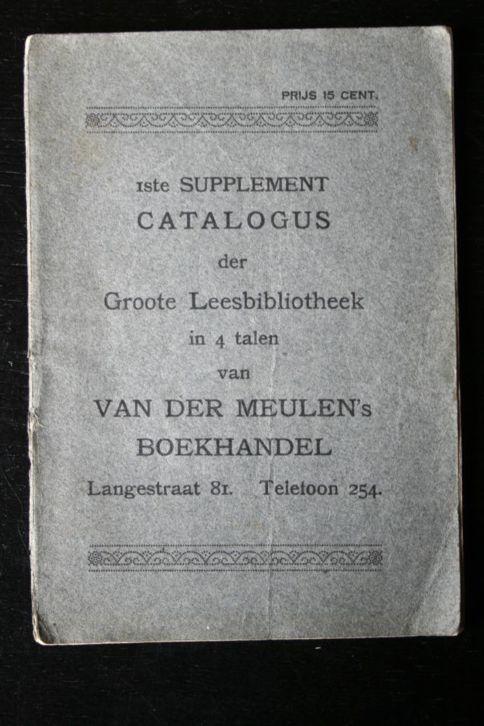 Voorzijde van supplement leesbibliotheek Van der Meulen in Alkmaar