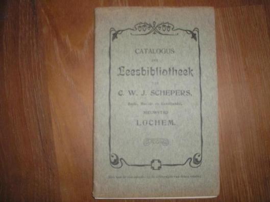 Vooromslag catalogus leesbibliotheek C.W.J.Schepers, Lochem