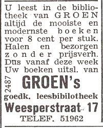 Adv. Groen's leesbibliotheek, Weesperstraat 17 Amsterdam