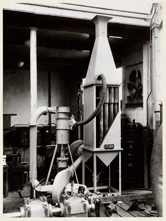 Multi-cvycloon vliegasvanger voor ketelinstallatie, in 1951 geproduceerd door Stork op basis van de uitvingen van ir. H. van Tongeren.
