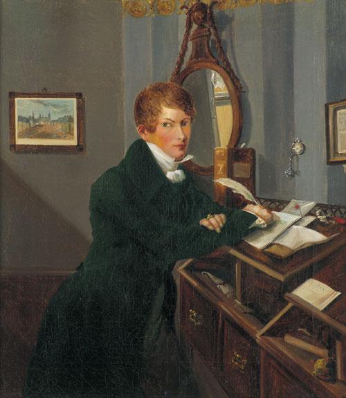Afbeelding van een notaris uit omstreeks 1830