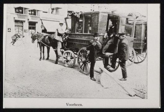 Omnibus dienst Haarlem - Heemstede - Hoofddorp, 1900 (NHA).