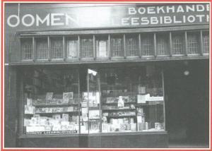 Voorgevel Oomen's boekhandel en leesbibliotheek, Den Haag