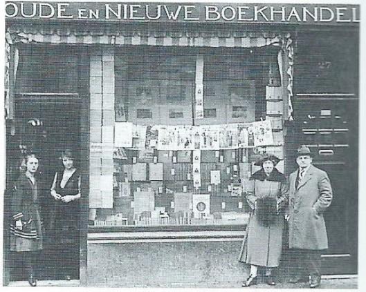 Bedrijfspand van boekhandel Henri Coebergh, Gedempte Oude Gracht 74