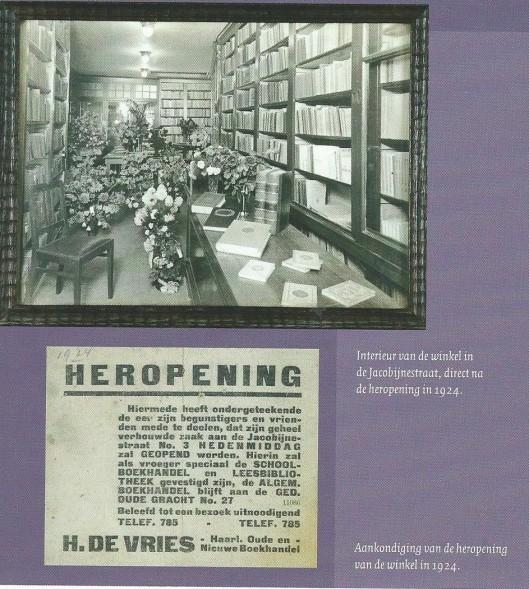 Heropening van winkel H.de Vries in 1924