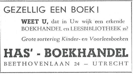 Has' boekhandel en leesbibliotheek, Utrecht