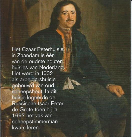 Uit folder Czaar Peter huisje Zaandam