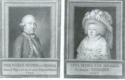 Portrertten van Dirk Willem Hendrik van Brakel (...-1787) en Anna Maria van Brakel-Visscher (1729-1793)