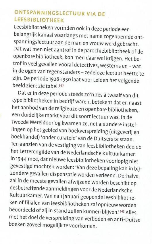 Leesbibliotheken in Leiden. Uit: Stad van boeken; handschrift en druk in Leiden 1260-2000. (2008, p.427)