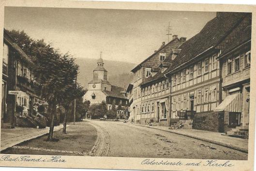 Grund im Harz. Links op de kaart: Leihbibliothek